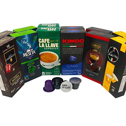 Nespresso Compatible Capsule Multi-Brand Variety Pack - Best Bundle Collection of Medium Espresso Pods from Around the World - 120 Pack
