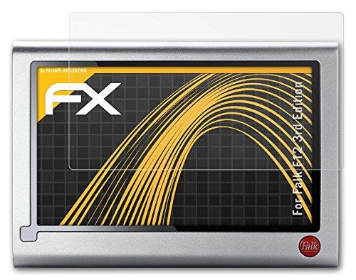 atFoliX Displayschutzfolie Falk F12 3rd Edition (3 Stück) - FX-Antireflex, antireflektierende Premium Schutzfolie