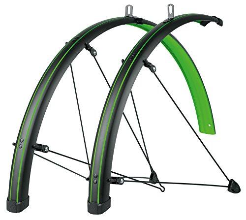 sks-germany Stachelrochen Fender Set grün 45mm mit grün Striping, schwarz