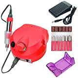 Pulidor de uñas 35000 Rpm Electric Nail Drill Machine Manicure Nail Drill Bits Set Pedicure Sanding Equipment Miling Cutter File Left Hand Tools