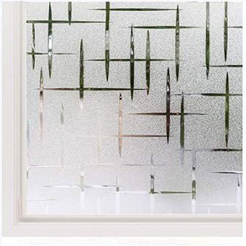 CHONGYA Fensterfolie Selbsthaftend Blickdicht 45x100 cm, Milchglasfolie Bad Folie für Duschkabine Milchglas Blickdicht Sichtschutzfolie Statisch Haftend Glastüren Badfenster Sterne Kreuz