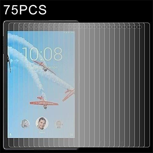 SHISHUFEN Protector de pantalla de vidrio templado para Lenovo Tab4 de 8 pulgadas, TB-8504, TB-8504F, TB-8504X de 0,3 mm, dureza de superficie 9H, 75 unidades