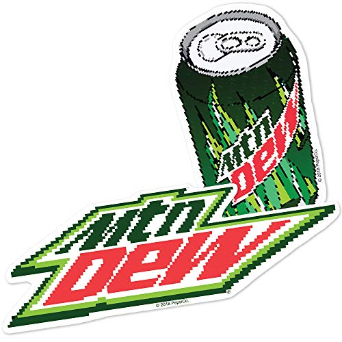 Popfunk Mountain Dew 8 Bit Logos Collectible Stickers
