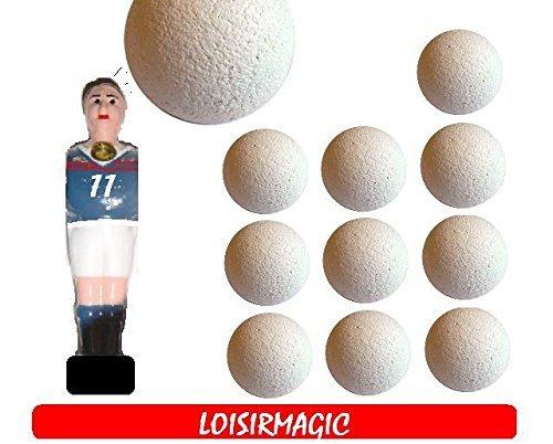 11 balle de baby foot liéges blanches BONZINI