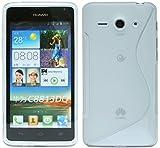 ENERGMiX Silikon Hülle kompatibel mit Huawei Ascend Y530 Schale Tasche Handyhülle in Transparent
