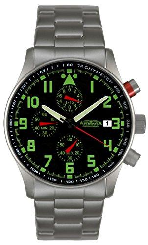 Astroavia N94S Orologio da uomo Cronografo Nero Chronograph