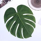 WINOMO 12stk Künstliche Tropische Palme Verlässt Simulations Blatt für Hawaiische Luau Partei Dschungel Strand Thema Dekorationen - 7
