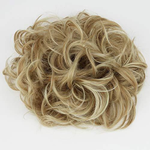 PRETTYSHOP XXL Haarteil Haargummi Hochsteckfrisuren Voluminös Gelockt Unordentlich Dutt Blond Mix HW33