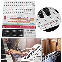 楽譜のステッカー、音楽教育のための家庭用のファッショナブルな軽くて薄いピアノのステッカー(88/61/54 keys)