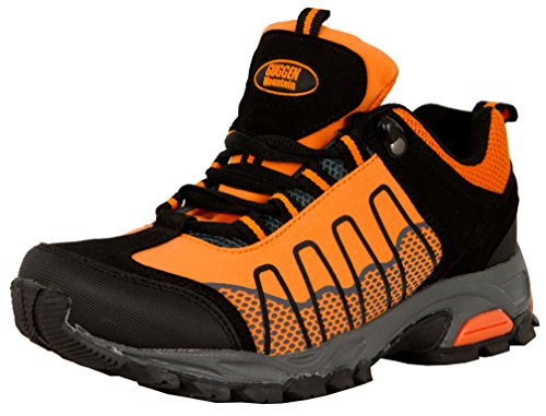 GUGGEN Mountain, Frauen Trekkingschuhe Damen Wanderschuhe Walkingschuhe Outdoorschuhe Outdoor Schuhe Softshell T002, Farbe Orange, EU 37