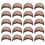 MapofBeauty 20pcs Breathable Stretchy Nylon Wig Cap (Coffee)