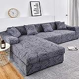 uyeoco Couchbezug L Form 1/2/3/4 Sitzer,(L-förmiges Ecksofa Sofabezug sollte Zwei kaufen) L-förmiges Ecksofa mit elastischem elastische Stretch Sofa Überwürfe (Color : A, Size : 1-Sitzer (90-140 cm))
