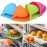 K1, Cafe Great Quality - Guantes antideslizantes con aislante térmico de gel de sílice para cocinar en casa, microondas y microondas