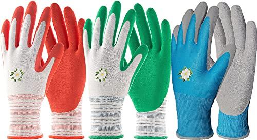 Kleurrijke werkhandschoenen voor heren en dames, grip coating, duurzame bouwhandschoenen, tuinhandschoenen, beschermende handschoenen