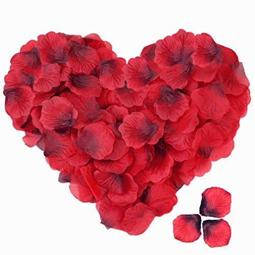 baotongle 4000 Stück Rosenblüten Seide Rot Rosenblätter für Romantische Atmosphäre Hochzeit Party Valentinstag Dekoration