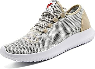 CAMVAVSR Men's Gym Shoes Fashion Slip on Lightweight Casual Workout Outdoor Walk Shoes for Men Gold Size 11