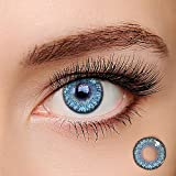 Makeup for Party, Cosplay, Fashion Show, Halloween, Makeup Party, Colored Contacts for Eyes Cosplay (Brilliant Blue)