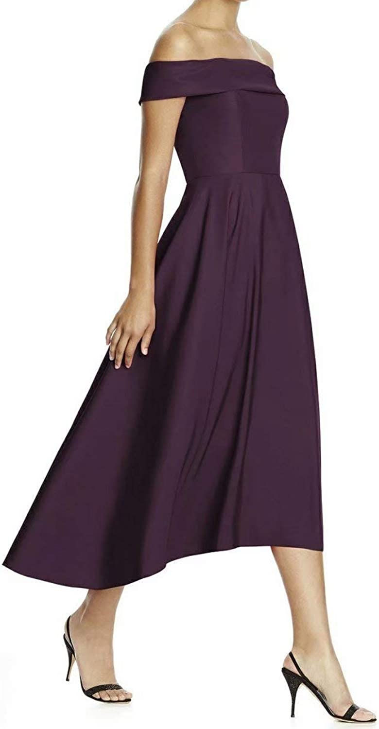 HAiliFier Off The Shoulder High Low TeaLength Formal Prom Evening Gowns