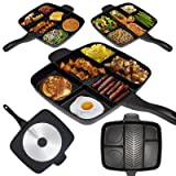 """Non Stick Divided Meal Skillet 15"""" Grill Fry Oven/dishwasher Safe- Double Layer of Whitford's Xylan Plus Coating, Easy to Clean, Stain Resistant, Dishwasher Safe."""
