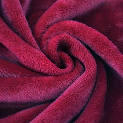 ZSYGFS 160 Cm De Ancho Tela De Terciopelo Suave para Coser De Chaquetas Decoración Decoración del Hogar Cortinas Tapicería Vestido Sillas Ropa Vendido por Metro(Color:Vino Rojo)