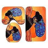Jklt Cortina de Ducha Bellamente Cortinas de Ducha Impermeables Mujer Africana Baotou con 12 Ganchos de baño WC Alfombra Mat Set Cómodo y Amplio Rango de Uso (Color : Multi-Colored, Size : #3)
