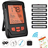 Wireless Meat Thermometer for Grilling, Bluetooth Meat Thermometer Digital BBQ Cooking Thermometer...