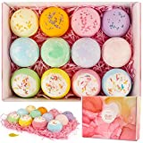 CHOOBY Natural Bath Bombs,12 Pcs Large Handmade Organic Bath Bomb Gift Set with Natural Ingredient, Sea Salts, SPA Bath, Fizzies, Gift for Kids, Women, Mom, Girls, Friends for Mother's Day