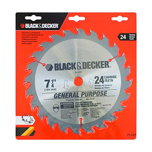 BLACK+DECKER Disco para Serra Circular de 7.1/4 Pol. (184mm) 71727