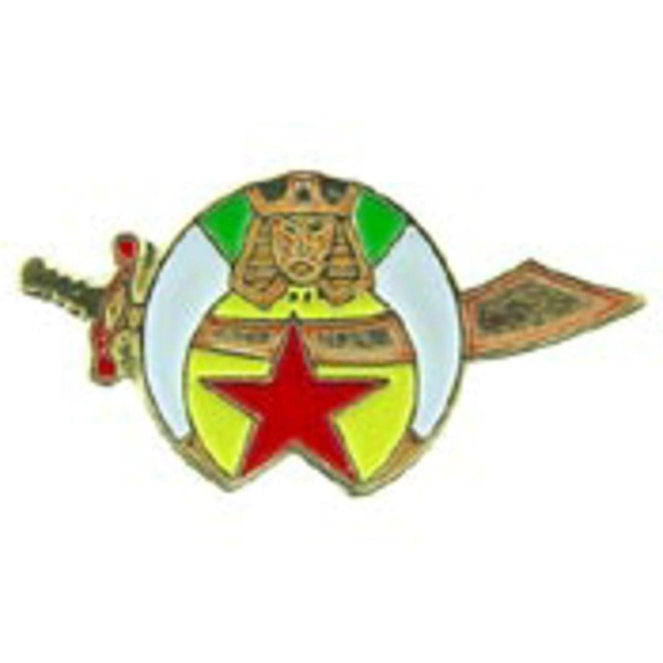 EagleEmblems P60659 PIN-ORG,Shriner,Emblem (1'')