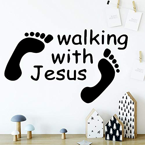 Tianpengyuanshuai Nordic-stijl zaag met Jezus muurtattoos moderne kinderen muurtattoos kinderkamer sticker creatieve stickers