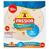 Mission Low Carb Soft Taco Flour Tortilla's 24 oz 2/8 ct Twin Pack CRC Kosher Total of 24 oz 16 Tortillas