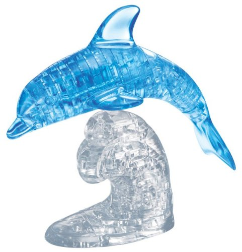 Bepuzzled Original 3D Crystal Puzzle Deluxe - Dolphin - Fun yet challenging brain teaser that will test your skills and imagination, For Ages 12+