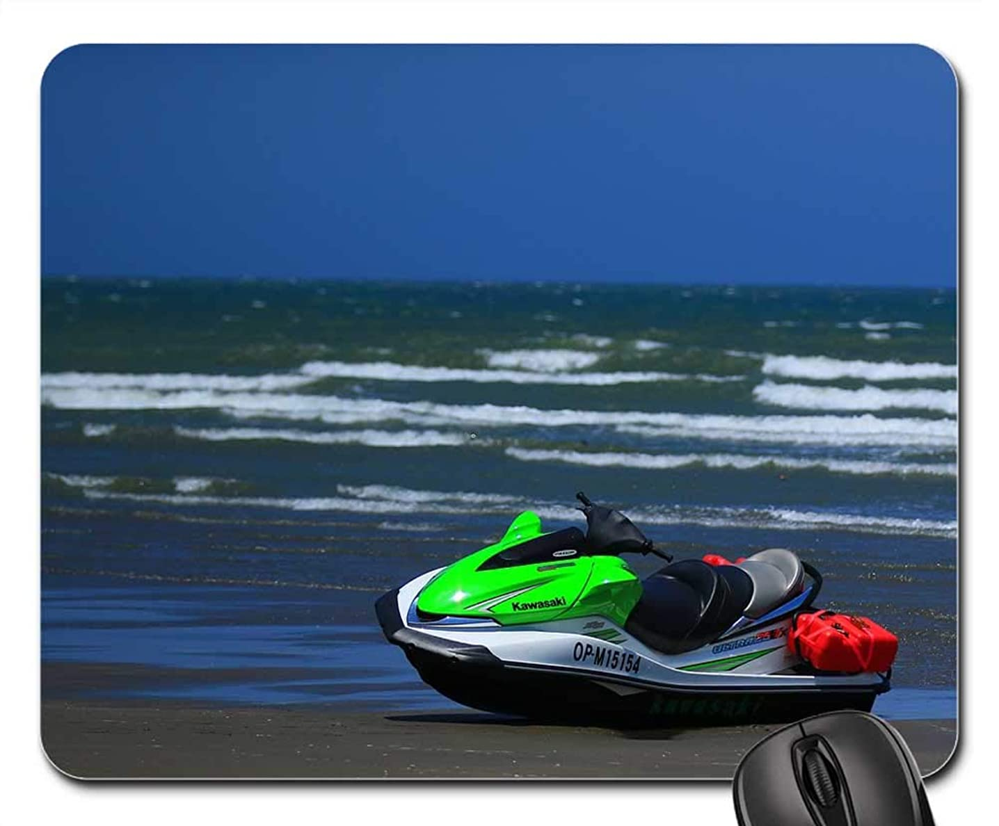 Mouse Pads - Blue Day Sand Beach Water Scooter Beach Summer Sea