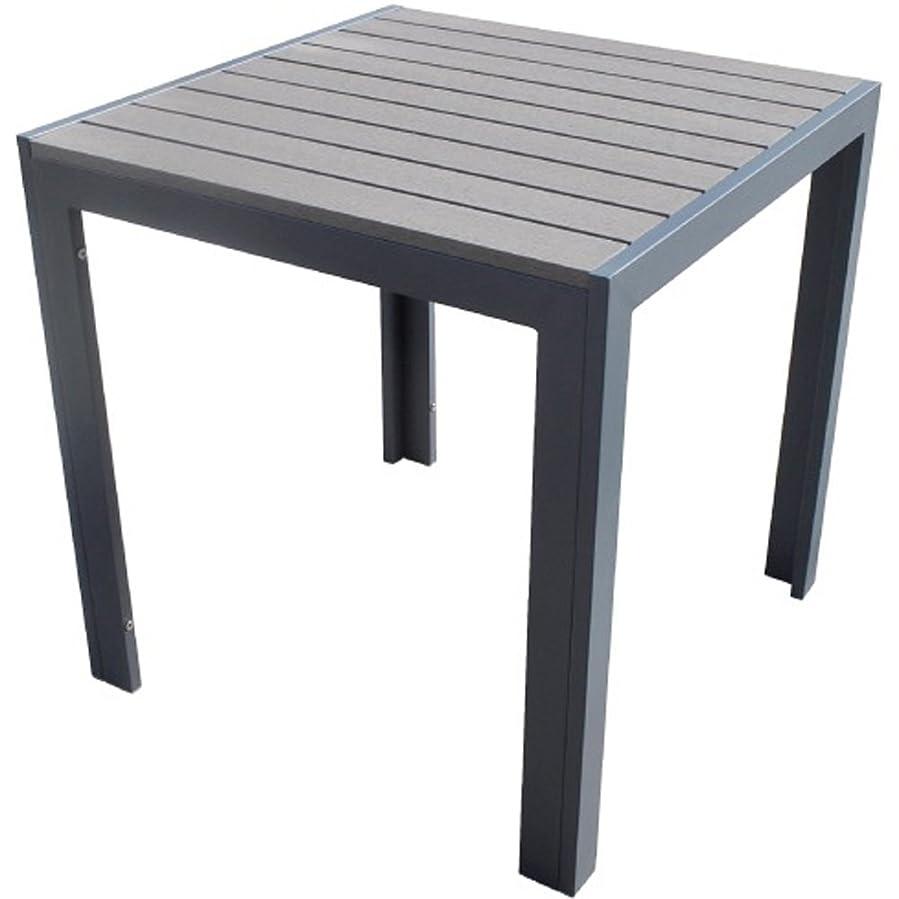 伝えるパトロン司法人工木テーブル正方形【ダークブラウン】aks-25821 JJ PROHOME