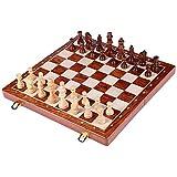 XYWCHK El ajedrez de Madera Set de Juego de ajedrez Hecho a Mano Europea con el Consejo y talladas a Mano Juegos de ajedrez Piezas de ajedrez de Viaje portátil Juego de Mesa