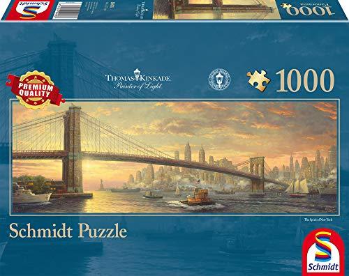 Schmidt Spiele 59476-Puzzle panorámico de Thomas Kinkade (1000 Piezas), Color carbón (59476)