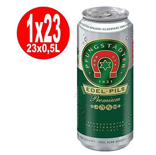 23 x 0,5L Dosen Pfungstaedter Edel Pils Premium 4,9% vol EINWEG REduziert wegen MHD 9/19