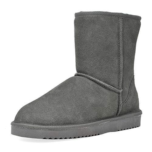 DREAM PAIRS Shorty Sheepskin Fur Winter Snow Boots