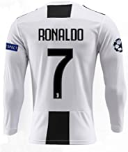 ZhouDress Juventus 2018/2019 Season 7 Ronaldo Home Mens Long Sleeve Soccer Jersey & Armbands (S-L)