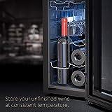 WIE Weinkühlschrank 32 Liter 12 Flaschen Freistehend 10-18 °C Touch digital Temperatureinstellung LED-Innenraumbeleuchtung - 2
