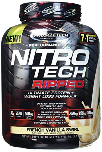 Muscletech Performance Series Nitro-Tech Ripped, French Vanilla Swirl, 1806 g