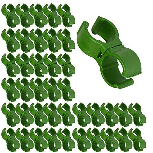Guanici Garten Multifunktionsclip Pflanzen Stabile Clips Pflanzstabbefestigung Clips Pflanzen Verbinder Clip für Pflanzen Sicherung Unterstützt Einzupflanzen Rosenbögen Rankhilfen 40 Stück (Grün,16mm)