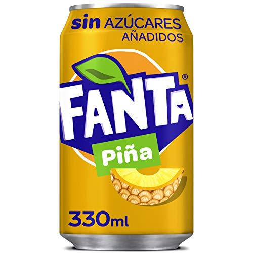 Fanta, Boisson Gazeuse Sans Sucre, Boisson Gazeuse Goût Ananas, 330 ml