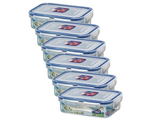 ZIP Premium Lock&Lock Frischhaltedose Frischhaltebox Multifunktionsbox Frischhaltebehälter Vorratsdose Kleinteiledose, 360 ml, HPL810-6er Set