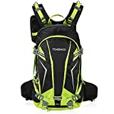 TOMSHOO 20L/30L Cycling Backpack Lightweight Waterproof Backpack with Rain Cover Helmet Cover (GREEN 30L)