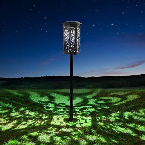 Zeonetak Lámpara Solaire,LED Solaire Verre De vin Lumière à Torche Solaire Adjustable Projecteur de Jardin Applique Murale Lanterne de Table lumiere Led Exterior