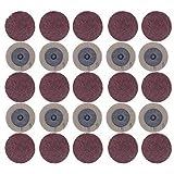 KAIBINY Industrielle Schleifmittel 100Pcs Schleifscheibe for Roloc 50Mm 40 60 80 120 Grit Sander Papierscheibe Schleifscheibe Schleif Rotary Werkzeuge Zubehör