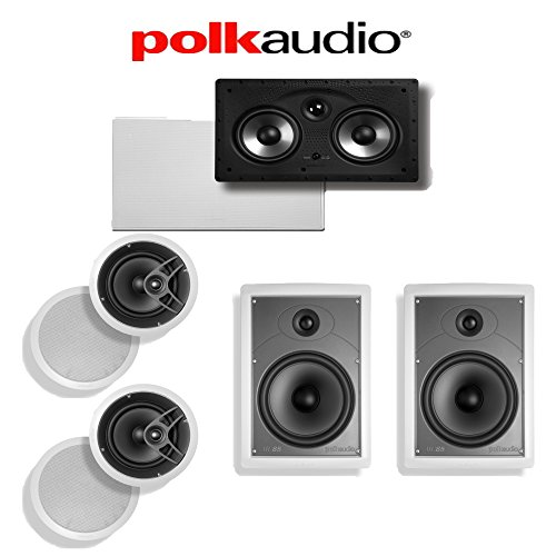 Find Bargain Polk Audio MC80 5.0 in-Wall/in-Ceiling Home Theater Speaker System (MC80 + MC85 + 255C-...