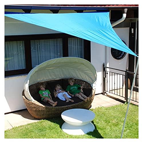 DELIMITE Toldo Vela de Sombra Velo Impermeable Triangular Velo 98% Protección UV jardín al Aire Libre Patio Patio Arena de Arena Tamaño: 3x3x4.3m Color: Verde protección Rayos UV Impermeabl