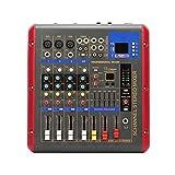 Mesas de Mezcla de Estudio, Mezclador Audio Sonido de Efecto Profesional de 4 Canales Mezclador de Potencia de Audio de DJ Controlador de Interfaz USB